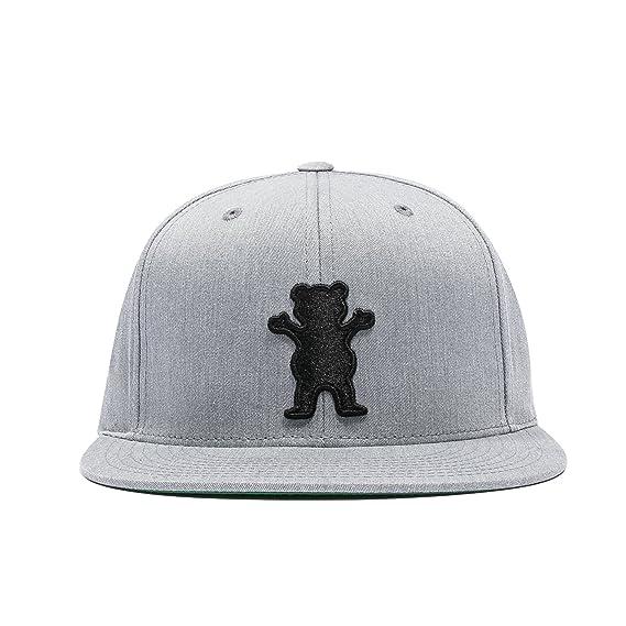 Grizzly Bear Heather Grey Black Snapback  Amazon.co.uk  Clothing ed9a0c113a4