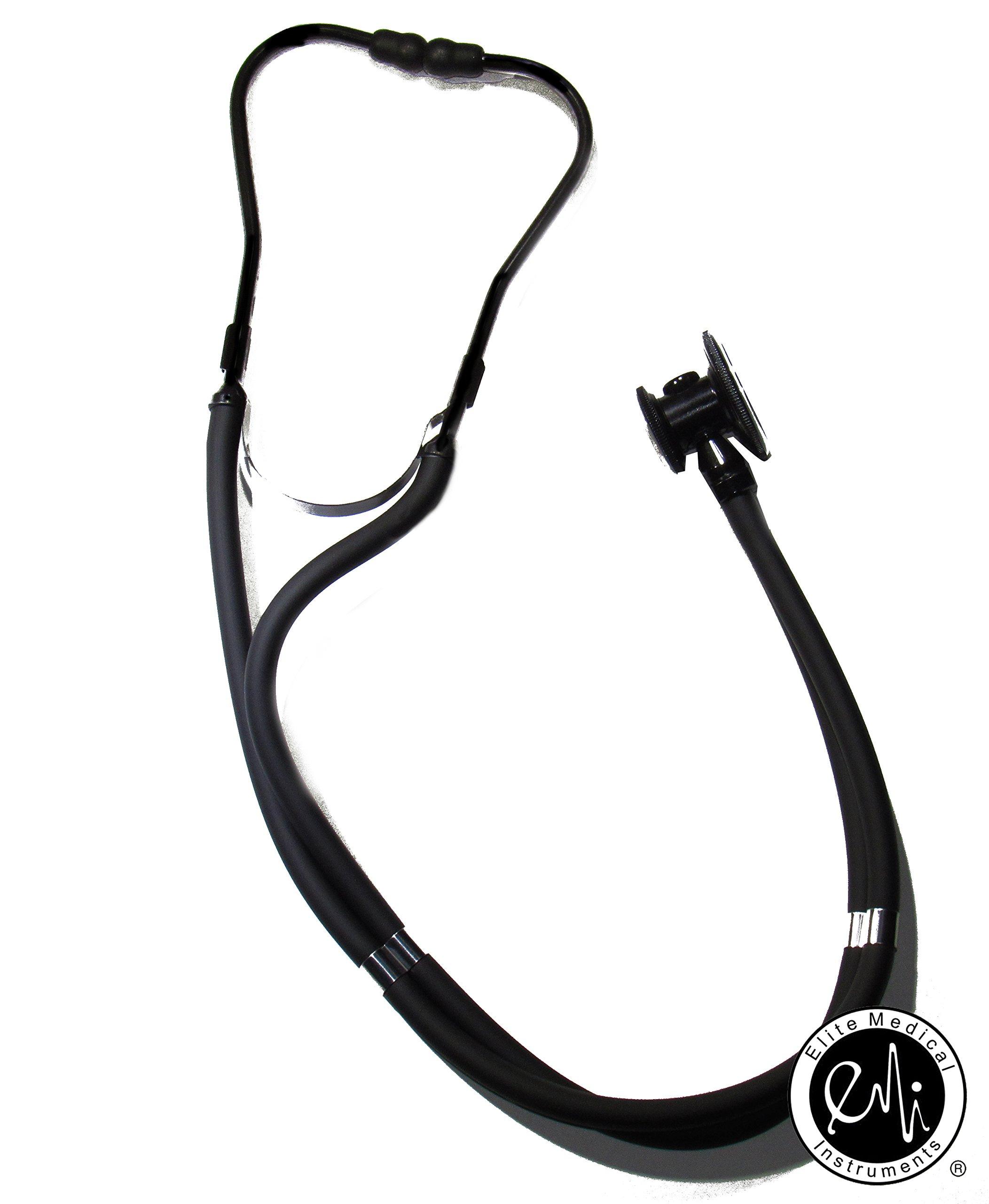 EMI Sprague Rappaport Dual Head Stethoscope - STEALTH BLACK - 112SB