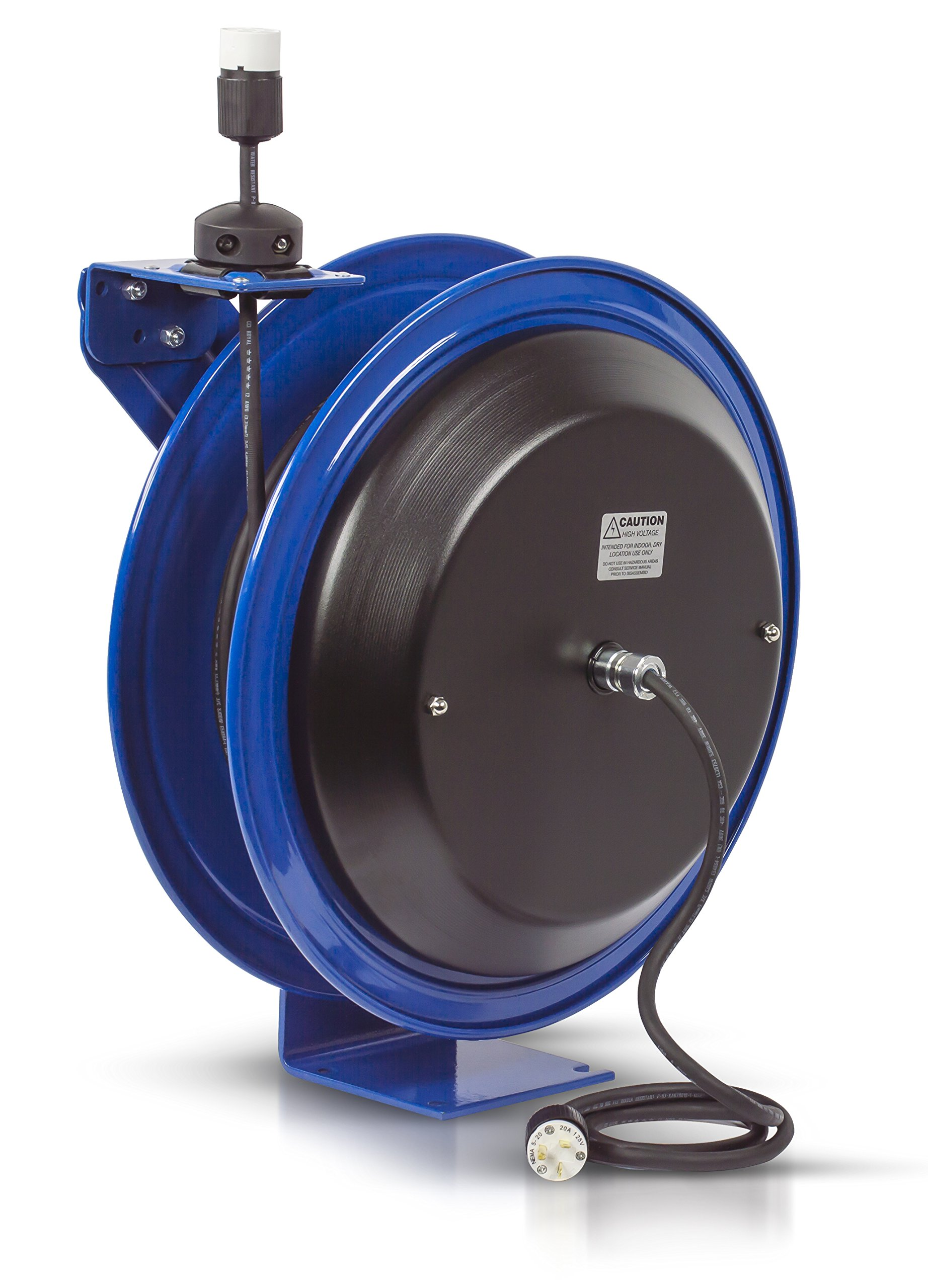 Coxreels PC19-7512-A Power Cord Spring Rewind Reels: Single Industrial Receptacle, 75' cord, 12 AWG
