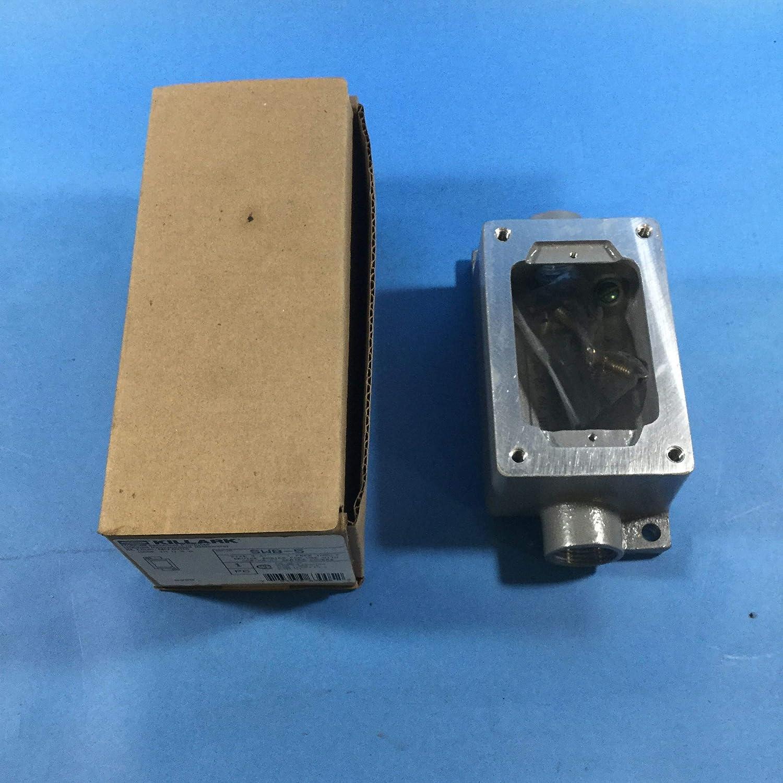 "Hubbell-Killark SWB-8 Device Box 3//4/"" Hub Dead-End SWB 2-Gang"