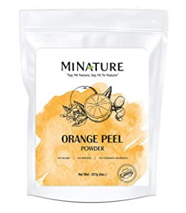 Orange Peel (Citrus Aurantium) Powder by mi nature - 227 g / 8 OZ / 1/2 lb | All Natural | Vegan | Non GMO | For Hair & Skin Care