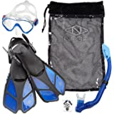 NAGA Sports Kids Snorkel Set - Choose your Size and Color