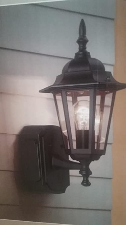 Portfolio Gfci 15 75 In H Black Outdoor Wall Light