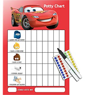 cars potty toilet training reward chart pen free star stickers cr1