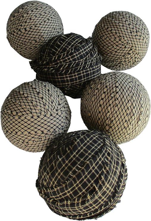 Rag – Bolas pelotas de trapo de tela primitiva negro y blanco ...