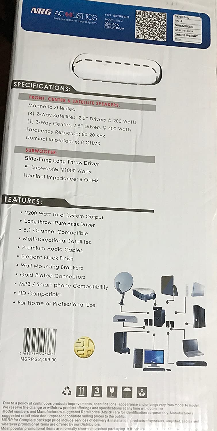 Nrg Acoustics Hd Series Professional Home Theater Wiring Guide Audio
