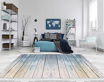 Fußbodenbelag Teppich ~ Pvc vinyl fussboden fußboden boden teppich matte forwall blaues