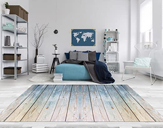 Fußboden Vinyl Holzoptik ~ Pvc vinyl fussboden fußboden boden teppich matte forwall blaues