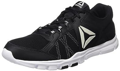 Reebok Yourflex Train 9.0 MT, Sneaker Basses Homme, Noir (Blk/Excellent Red/WHT/Pewter/Grey), 45.5 EU
