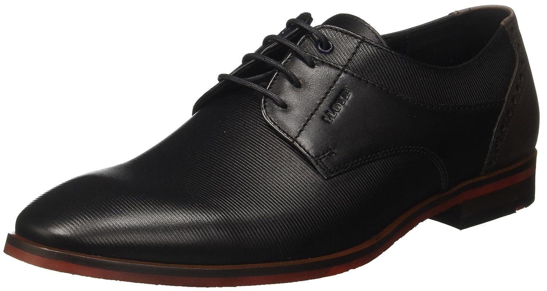 Lloyd Hamilton, Zapatos de Cordones Derby para Hombre 48 EU|Schwarz (Schwarz/Ebony)