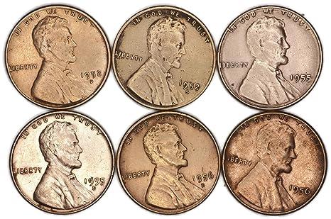 Various Mint Marks 1952 D 1952 S 1955 P 1955 D 1956 D 1956 P