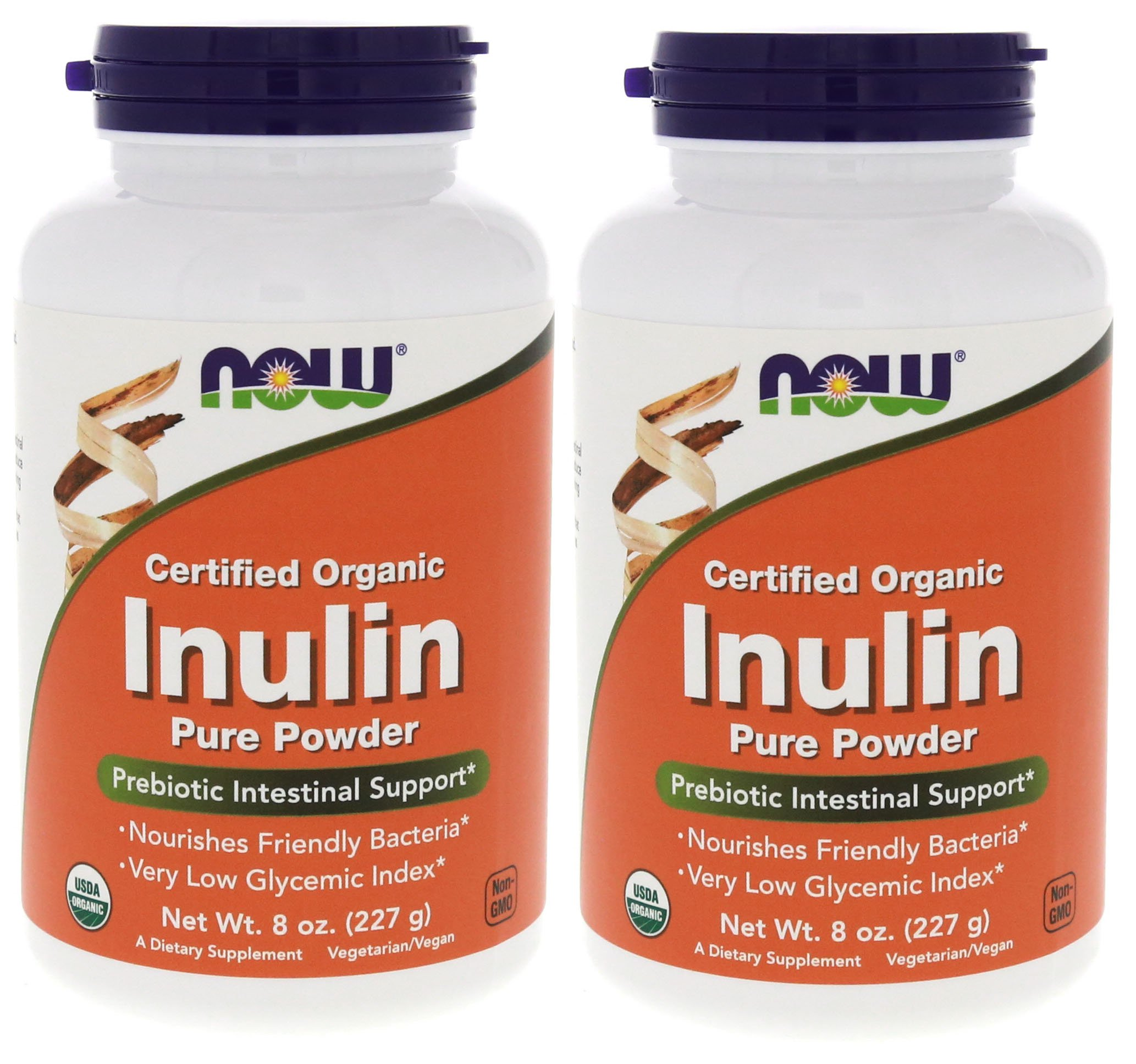 Now Inulin Prebiotic Fos, 8-Ounces (Pack of 2) by NOW Foods