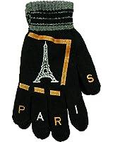 Souvenirs de France - Paire de Gants 'Paris Tour Eiffel' - Couleur : Noir