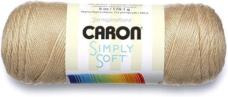 6 Oz - 4 Medium Gauge 100/% Acrylic Caron Simply Soft Collection Yarn -