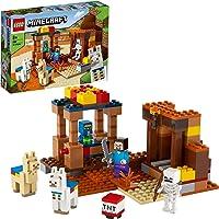 LEGO 21167 Minecraft De Handelspost Bouwset met Poppetjes van Steve en Skelet, Constructiespeelgoed voor Kinderen vanaf…