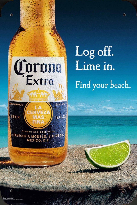 Tin Sign Metal Poster Plate 8 U0026quot X12 U0026quot Of Corona Beer Log