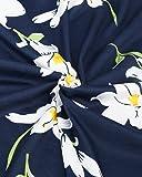 OUGES Women's Halter Neck Floral Summer Casual