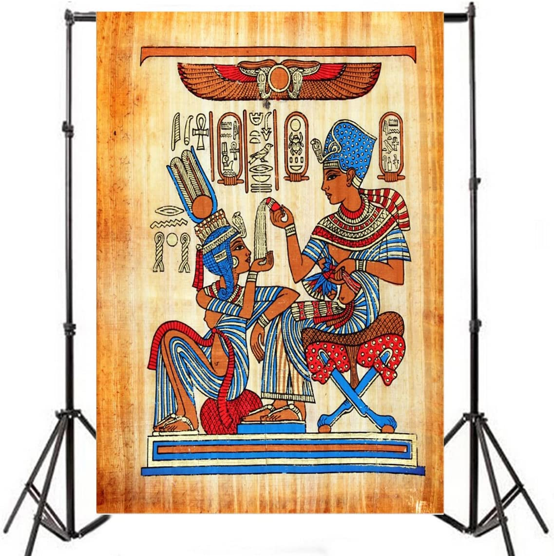 Leowefowa 6X6FT Ancient Egyptian Mural Painting Backdrop Old Egypt ...