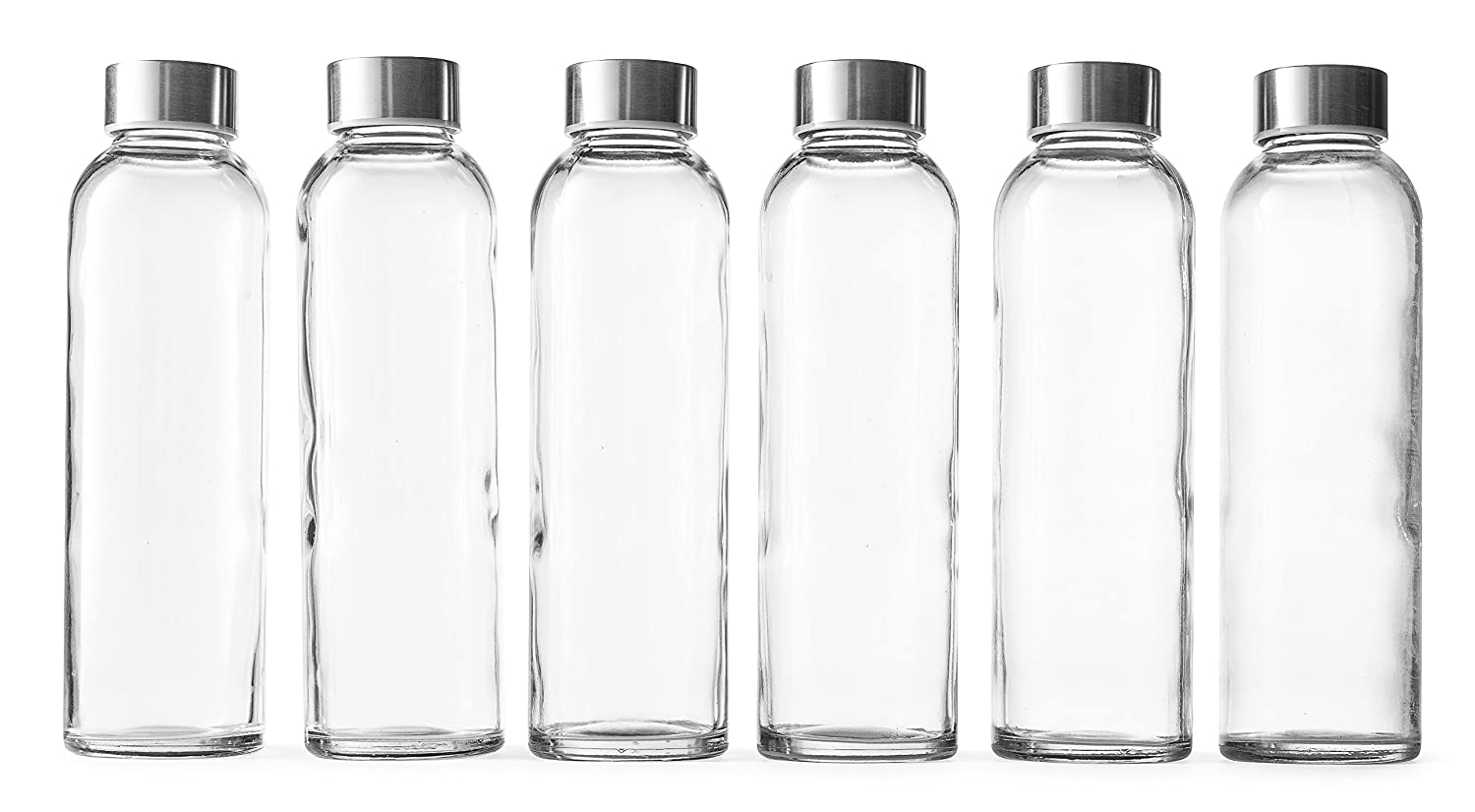 Epica 18-Oz. Glass Beverage Bottles, Set of 6 SYNCHKG035906