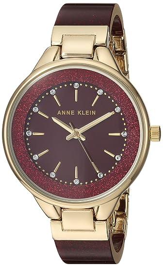 Klein Mujer Con Swarovski Pulsera Cristales Para Anne Resina De Reloj HID9E2W