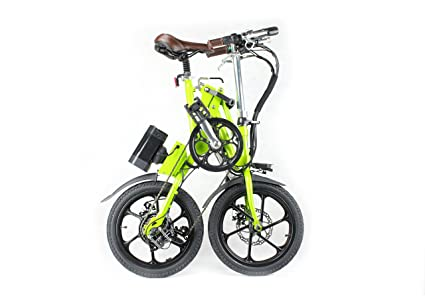Bicicleta eléctrica plegable® KwiKfold marchas Shimano, color Verde - verde, tamaño 16