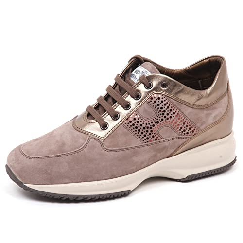 E0206 sneaker donna brown HOGAN INTERACTIVE H lamina pois shoe woman