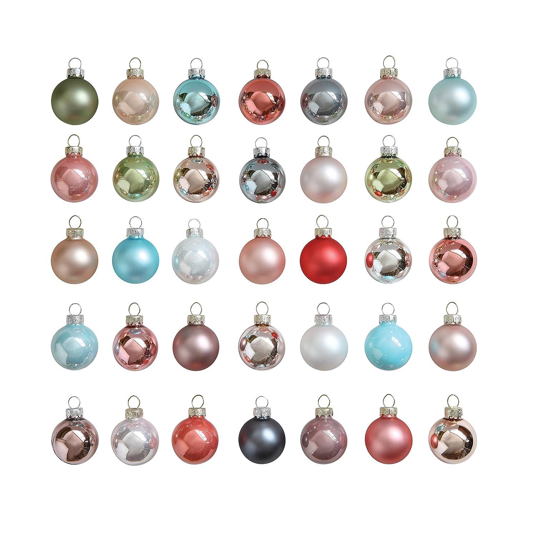 Pastel Christmas Ornaments.Creative Co Op Xm0660 Set Of 54 Pastel Multicolor Round Glass Ornaments