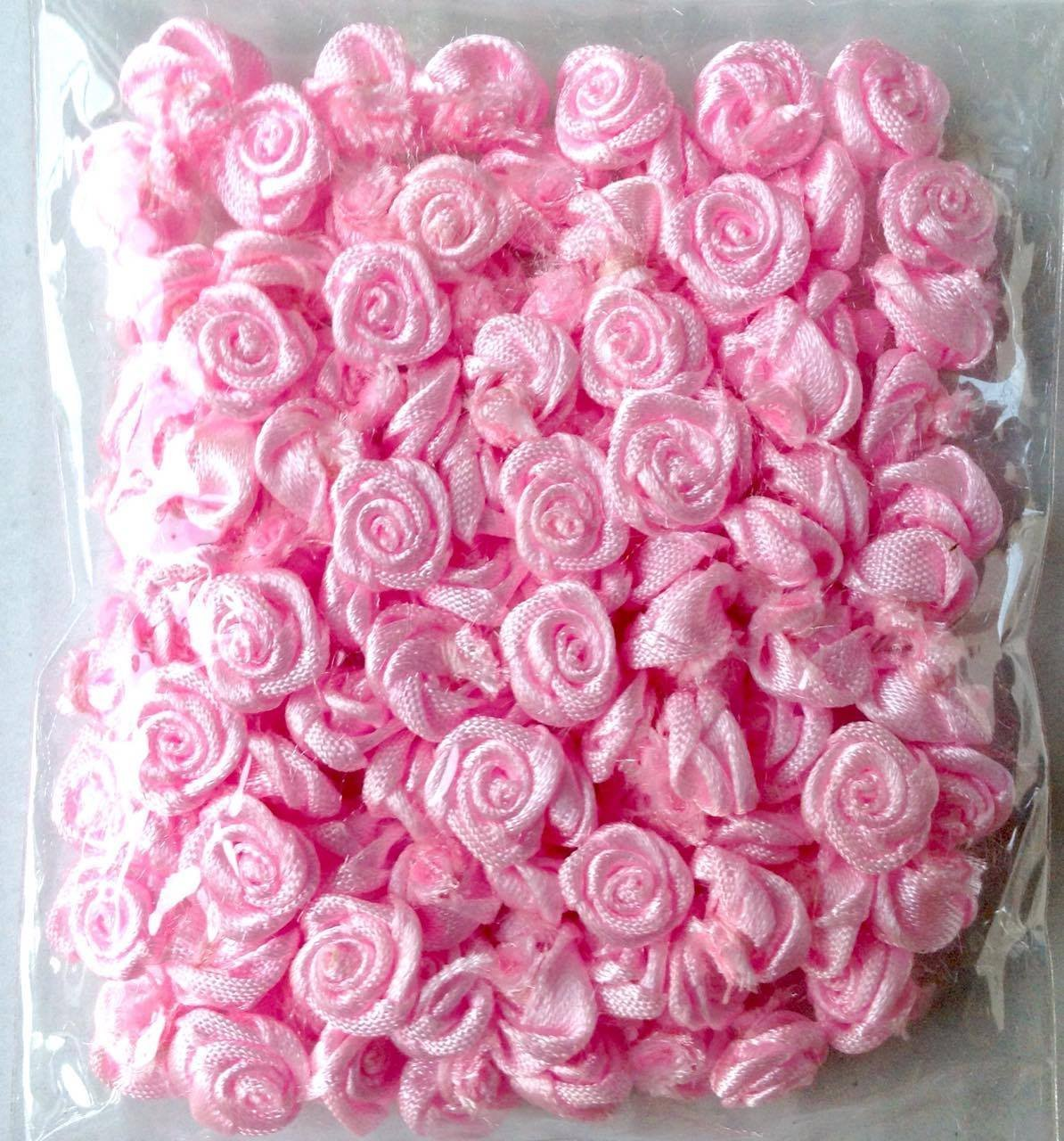 Amazon Satin Mini Roses Flowers Pink Color For Crafting