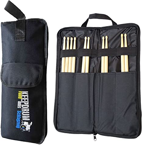 keepdrum SB-01 - Funda para baquetas (nailon), color negro: Amazon.es: Instrumentos musicales