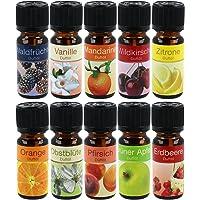 """COM-FOUR® 10x olika doftande oljor - Rumsdoft""""Fruit"""" - Doftolja för aromdiffusorer, luftfräschare, vattenförångare…"""