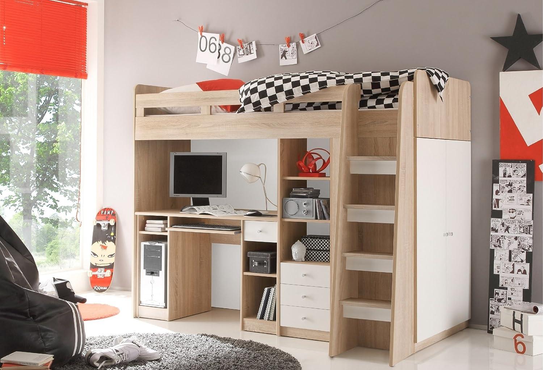 Moebel Guenstig24 De Hochbett Unit Jugendbett Kinderbett Bett Mit