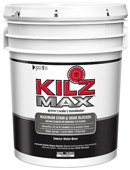 KILZ MAX Maximum Stain And Odor Blocking Interior Latex Primer/Sealer,  White, 5
