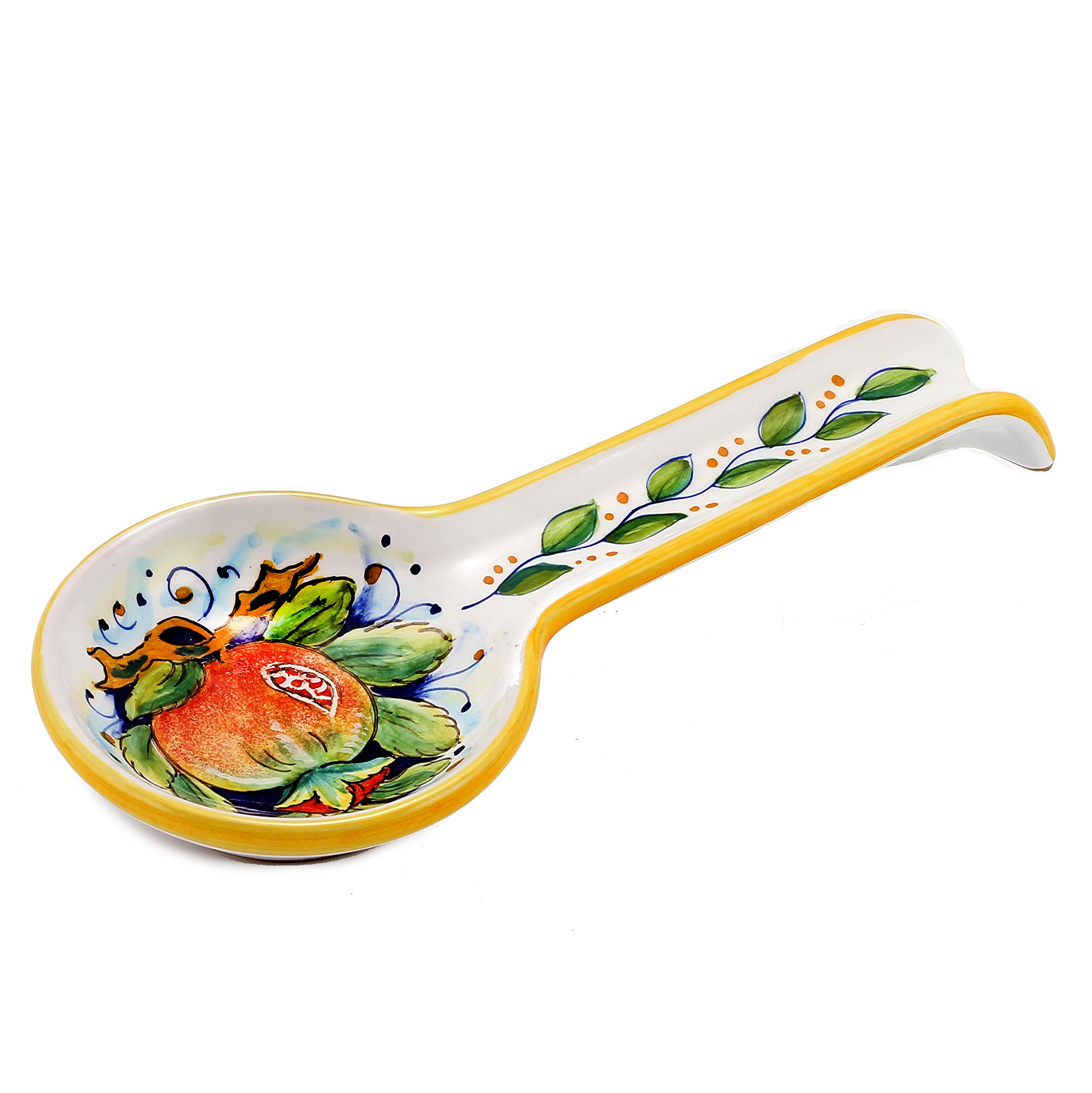 DERUTA: Spoon rest POMEGRANATE (also wall hung) [#7010/A-SEG] by DERUTA Collection