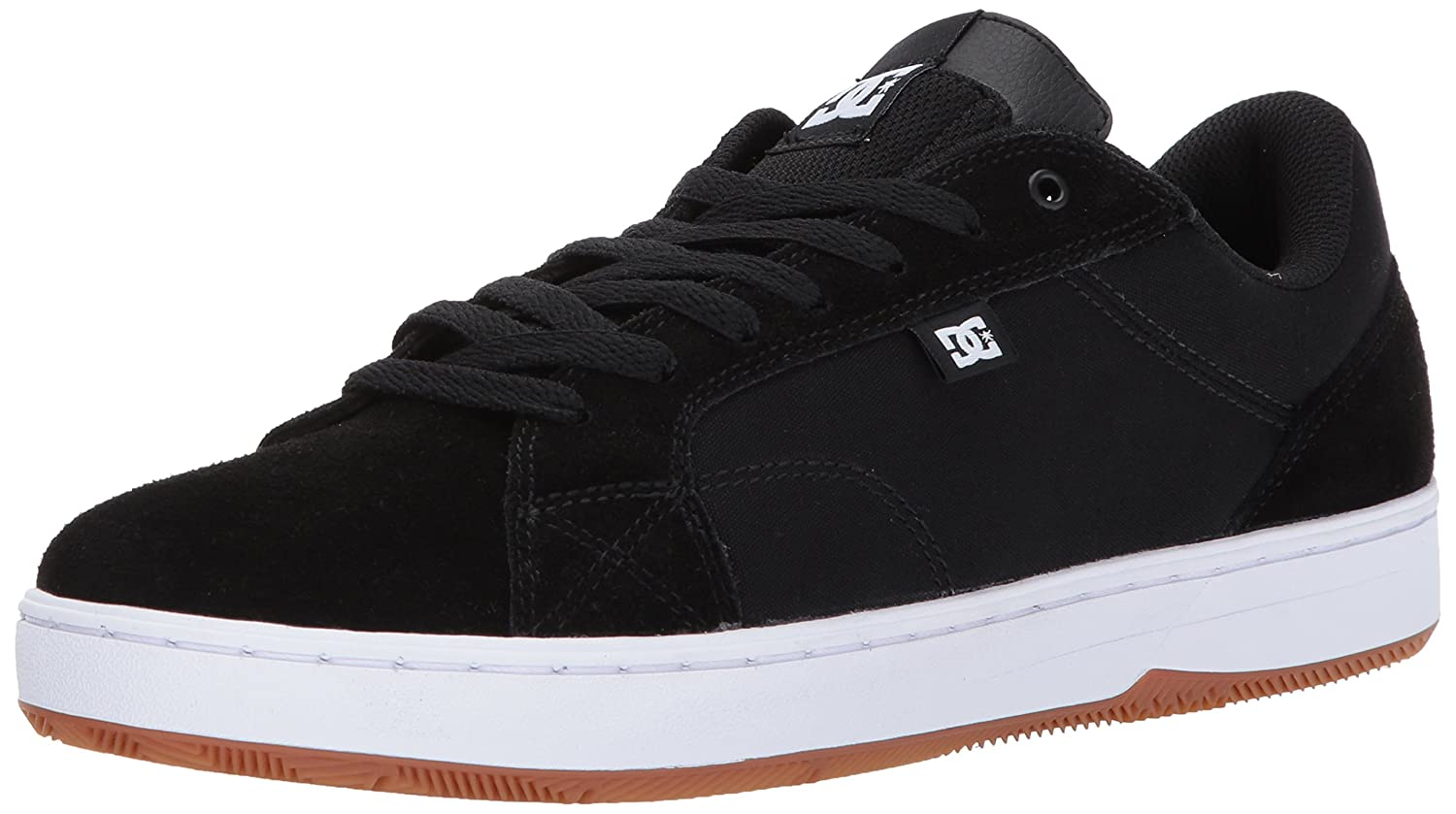 DC Men's Astor Skateboarding Shoe 7 D D US|Black/White/Gum