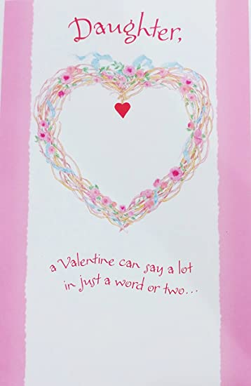 Amazon a valentine filled with love for you daughter happy a valentine filled with love for you daughter happy valentines day greeting card m4hsunfo