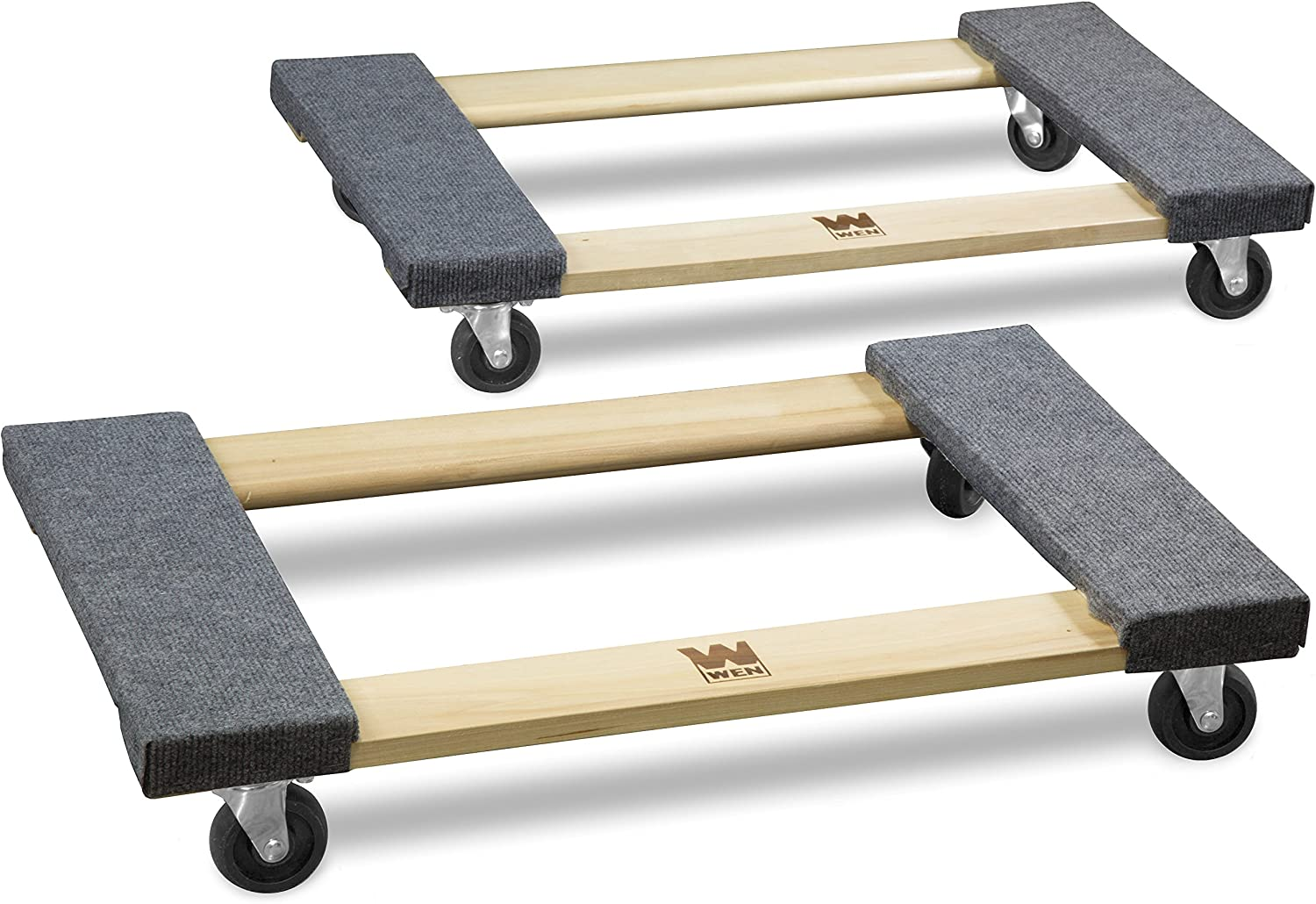 2-Pack WEN 721830 1320-Pound Capacity 18-by-30-Inch Hardwood Mover/'s Dolly