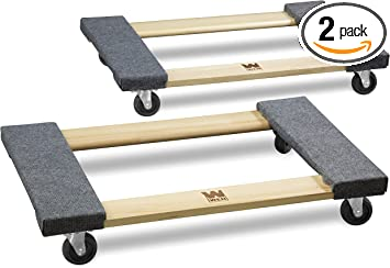 Wen 721830 1000 Lbs Capacity 18 In X 30 In Hardwood Movers Dolly 2 Pack Home Improvement