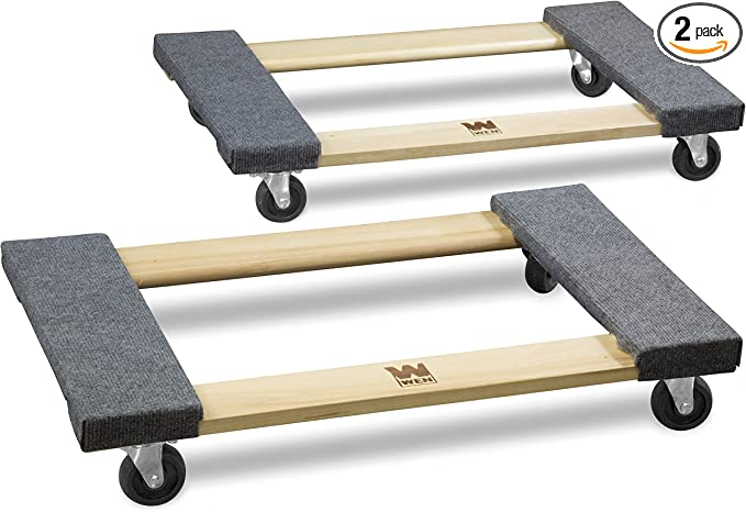 Wen 721830 1000 Lbs Capacity 18 In X 30 In Hardwood Movers Dolly 2 Pack Home Improvement Amazon Com