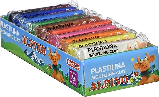Alpino DP000202 - Bandeja 10 plastilina: Amazon.es: Oficina y papelería