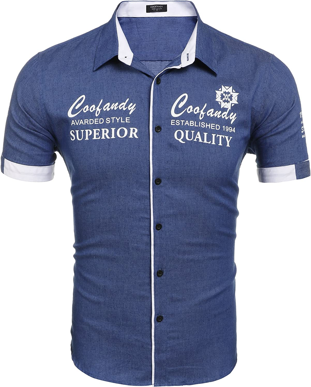 Coofandy - Camisa Casual - para Hombre: Amazon.es: Ropa y accesorios