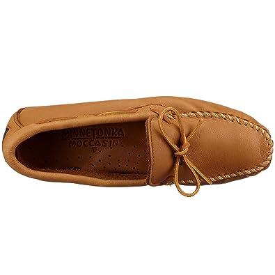 Minnetonka 950X Moosehide Driving Moc, Mocasines para Hombre, Beige (Natural), 49 EU: Amazon.es: Zapatos y complementos
