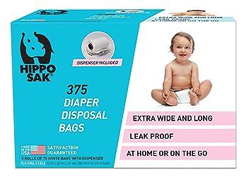 Amazon.com: Hippo Sak - Bolsas para pañales antibacterianas ...