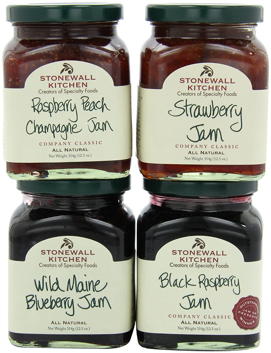 amazoncom stonewall kitchen all natural jam collection jams and preserves grocery gourmet food - Stonewall Kitchen Jam
