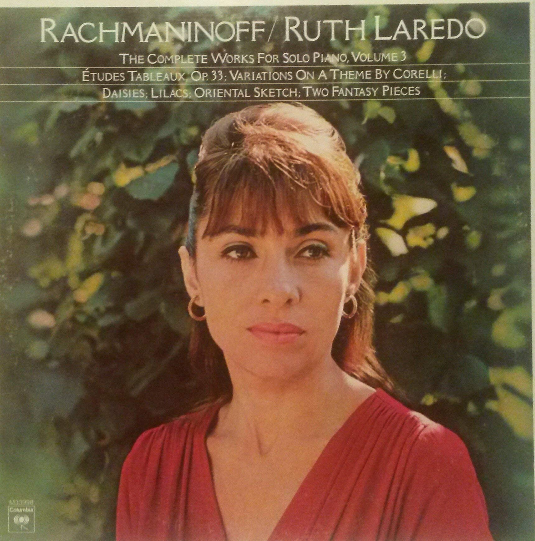 Rachmaninoff: THE Complete Works for Solo Piano, Volume 3: Etudes Tableaux, Op. 33 ~ Variations on a Theme By Corelli ~ Lilacs ~ Daisies ~ Oriental Sketch ~ etc. ~Columbia M 33998