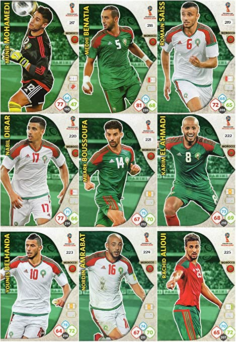 Adrenalyn XL FIFA World Cup 2018 Completo 9 Tarjeta Marruecos Equipo Set: Amazon.es: Deportes y aire libre