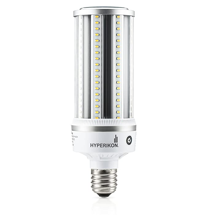 Hyperikon LED Corn Bulb Street Light 54W (Hip/HID Replacement) 6800 Lumen, Large Mogul E39 Base, 5000K Outdoor Indoor Area Lighting, IP64 Waterproof, UL