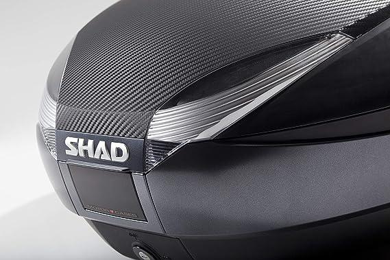 Topcase SHAD SH48 New Titanium wei/ß mit wei/ßem Reflektor