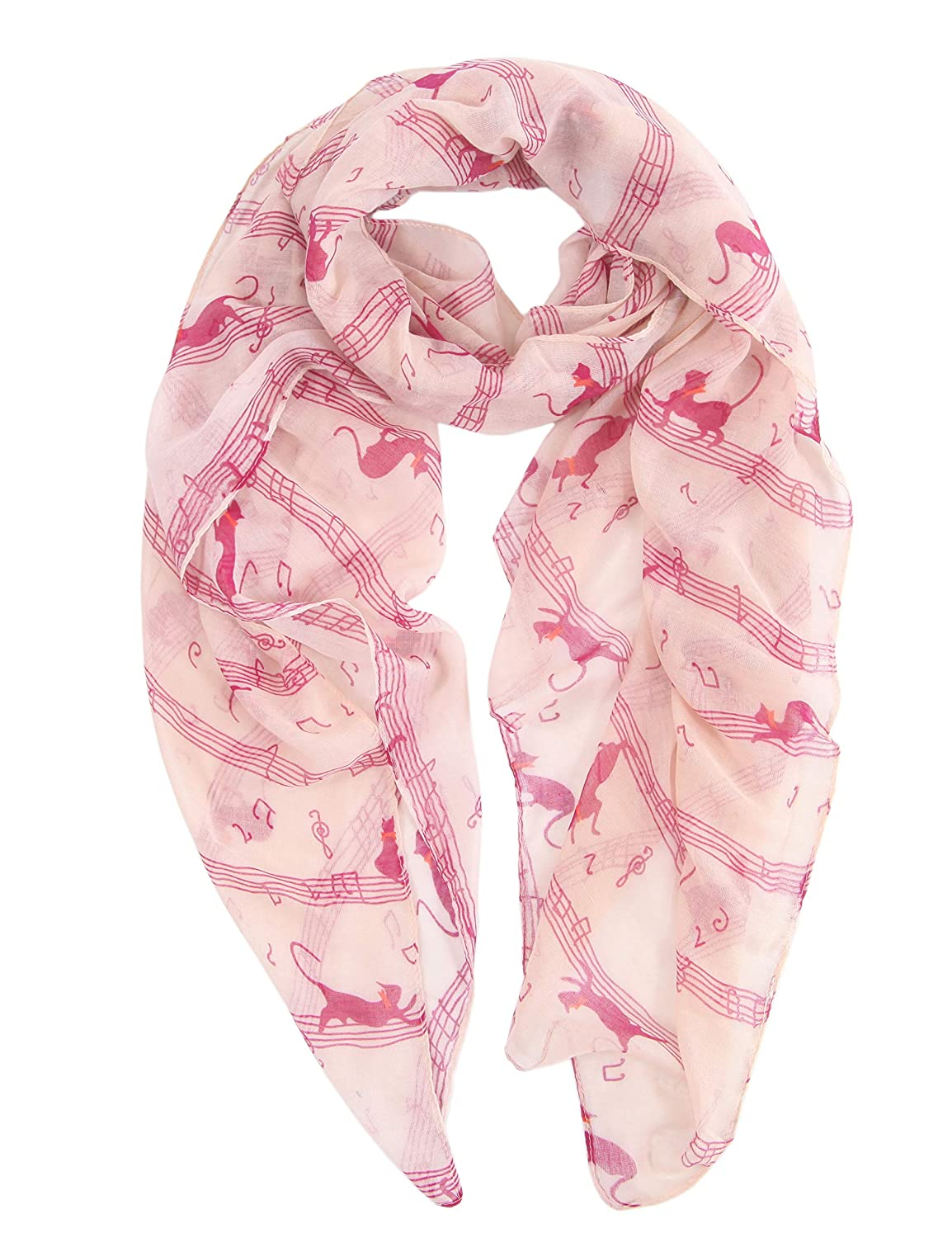 MissShorthair Music Print Infinity Scarves for Women Wraps and Shawl BCL14111-1