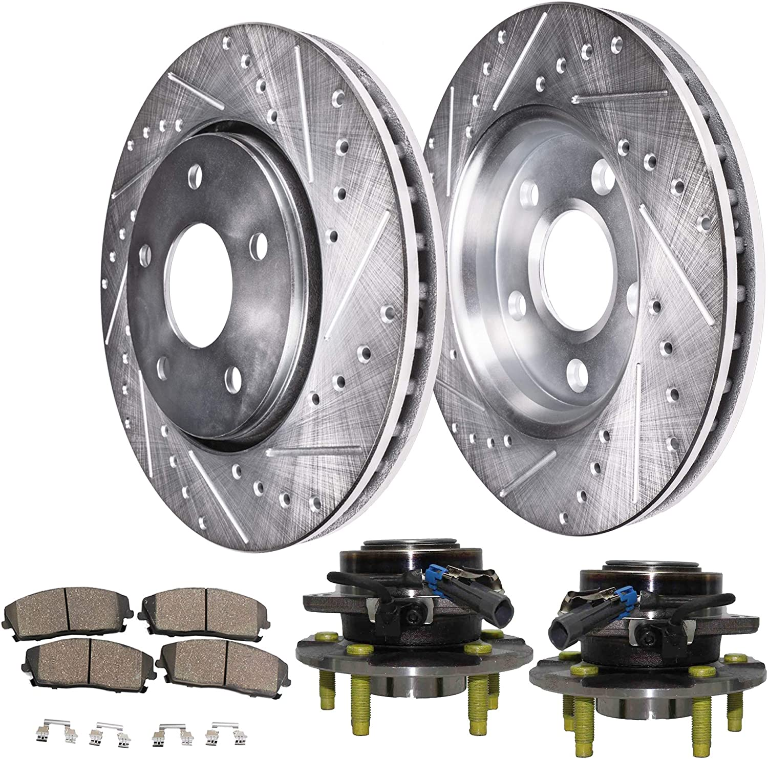 2002 2003 2004 for Saturn Vue Disc Brake Rotors and Ceramic Pads Front