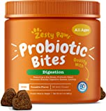 Zesty Paws Probiotic for Dogs - with Natural Digestive Enzymes + Prebiotics & Pumpkin - Dog Probiotics for Diarrhea…